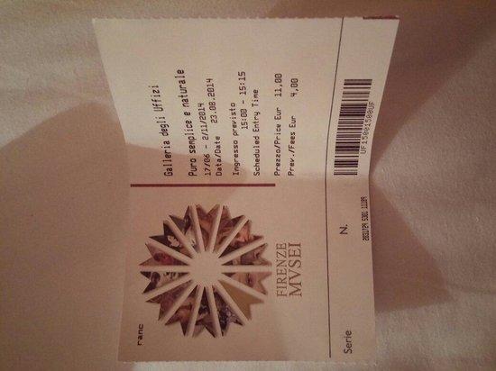Galería de los Uffizi: Biglietto prenotata online con data di ingresso e si evita la fila