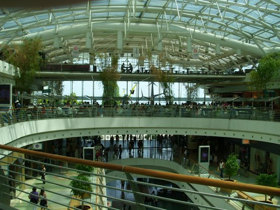 Vasco da Gama Shopping Center : Overzicht in de centrale hal