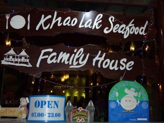 Khaolak Seafood Family House : Eingang