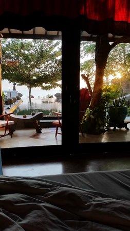 Hotel Tugu Lombok: Vista dal letto della Villa Nirwana