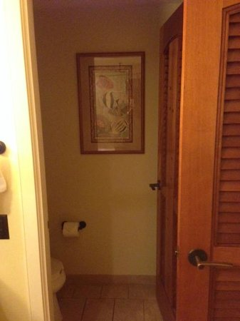 Aulani, a Disney Resort & Spa : Separate toilet with door for privacy