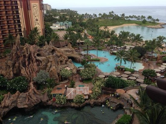 Aulani, a Disney Resort & Spa: View of the various pools