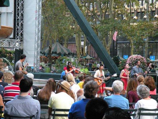 Concert à Bryant Park