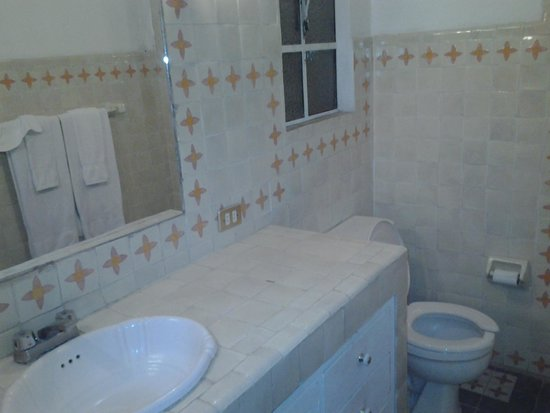 Suites Santo Domingo: Banyo con olor permanente a orin