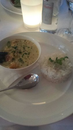 Fig & Olive Restaurant : Vegetable thai curry very tasty