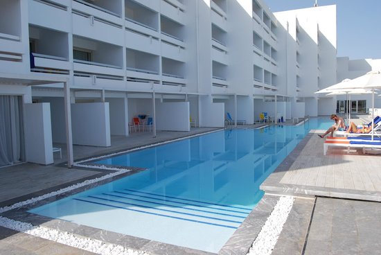 White Palace Luxury Resort: New pool outside our block