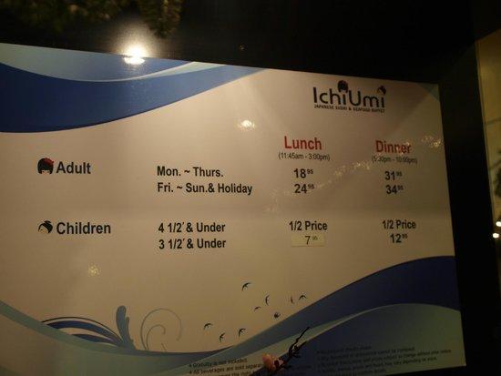 Ichiumi: цены