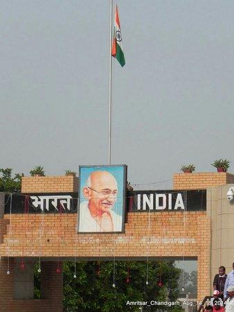 Wagah Border: Gate towards India side