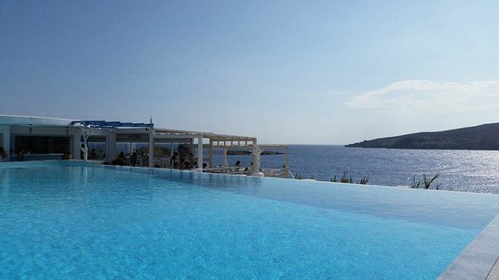 Mykonos Star: View from my sun lounger after a great breakfast