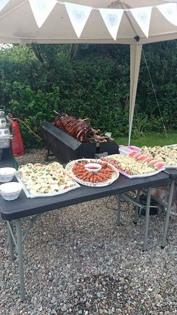 Cafe at Kilcreggan: Hog and Buffet at our garden party