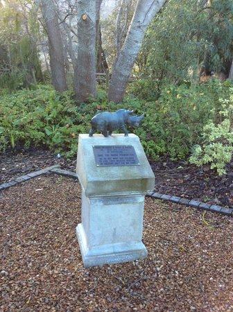 Lavender Farm Guest House Franschhoek: Save The Rhino Memorial