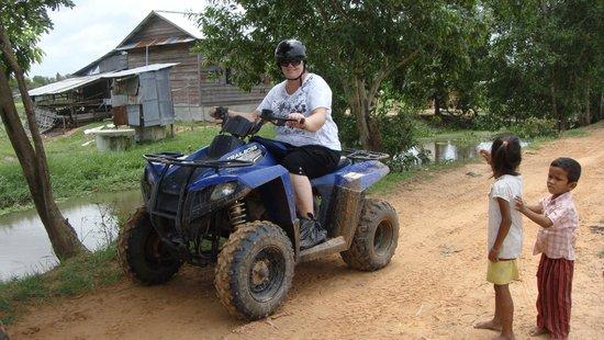 Quad Adventure Cambodia Siem Reap: Me and the mud