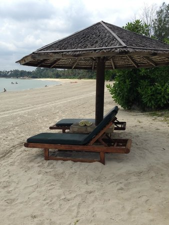 Angsana Bintan : Beach lounges