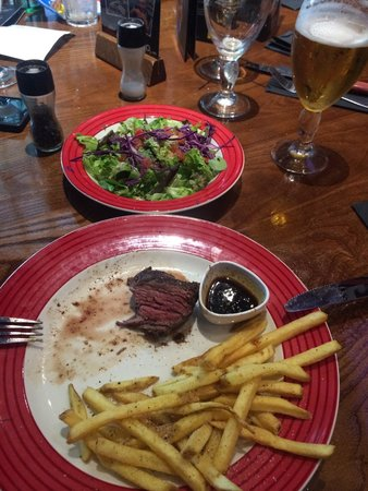 TGI Friday's - Cribbs Causeway: Fillet with chips & salad