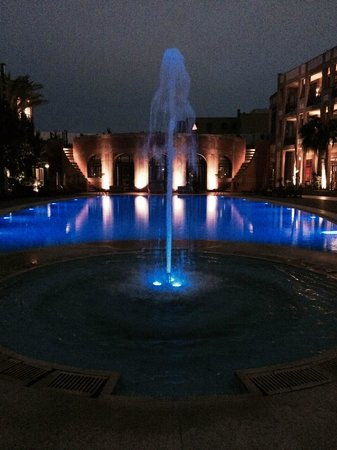Le Medina Essaouira Hotel Thalassa Sea & Spa - MGallery Collection: View of the pool at night.