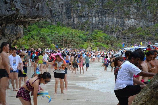 Zeavola Resort Maya Beach Crowded With Tourists