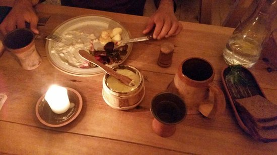 Palmse Korts: Food, condiments, butter, jug of water and our glasses
