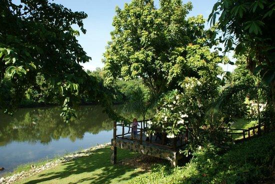 Xanadu  2008: Blick vom Garten auf den Fluss
