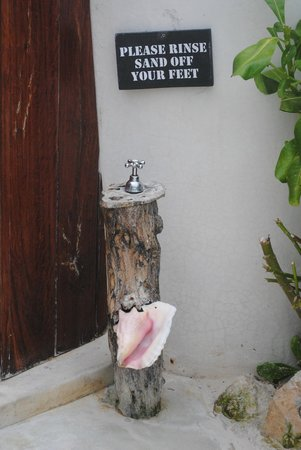 Coco Tulum: entrance to shared bathrooms (men & women separate)