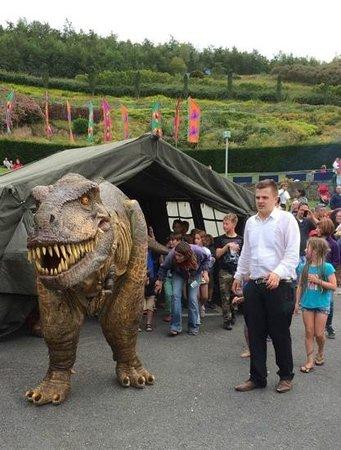 Eden Project: Dinosaur walkabout at basecamp :-)