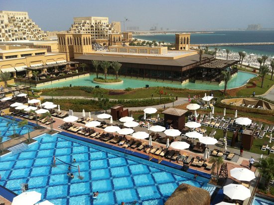Rixos Bab Al Bahr: from our gigantic terrace in our gigantic room