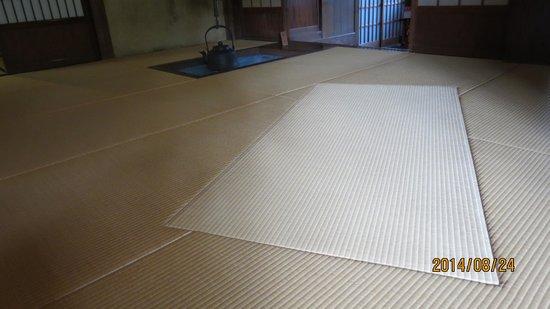 Toyama Memorial Museum of Art : 東棟の18畳のヘリ無し畳
