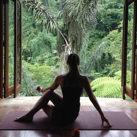 Bagus Jati Health & Wellbeing Retreat: Private session in the yoga pavilion