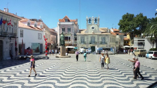 Cascais main square in town