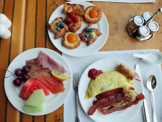 Grand Hyatt Hong Kong: 朝食の一部