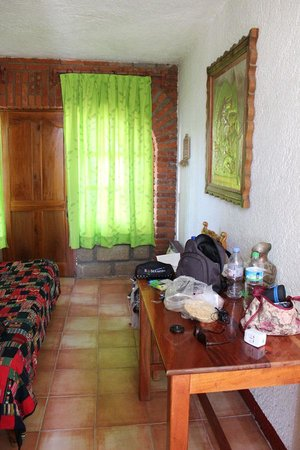 Hotel Hacienda Cuitlahuac: Vue de la chambre
