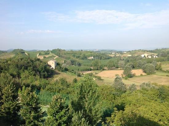 Hotel Villa Carmelita: zicht vanaf het balkon
