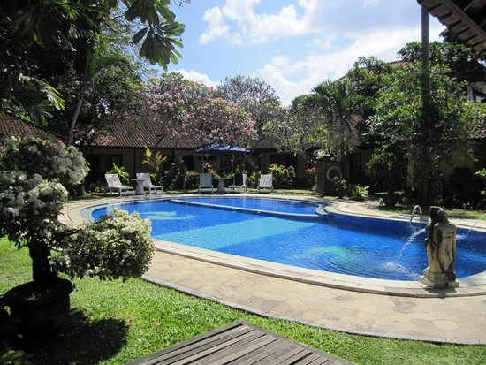 Puri Dalem Hotel: la piscine vue de la chambre