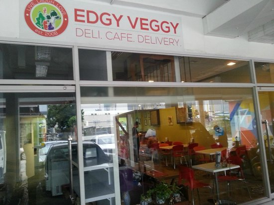 Edgy Veggy Vegetarian Cafe: The cafe frontage
