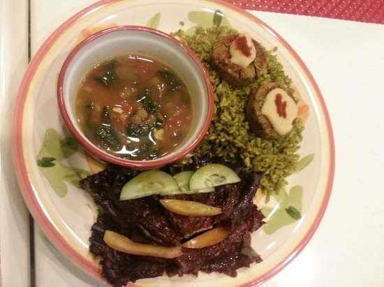 Edgy Veggy Vegetarian Cafe: The Moroccan Rice Meal