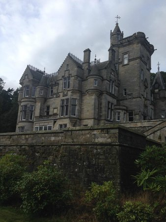 Kinnettles Castle: View from the grounds