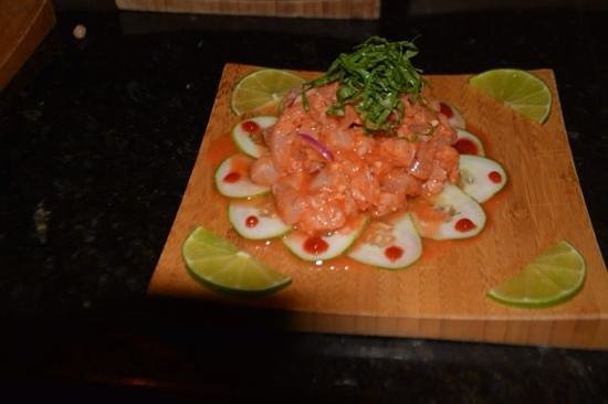 Sandals Grande Antigua Resort & Spa : wahoo from our deep sea fishing trip that the Suchi restaurant prepared for us