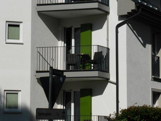 Hotel Villa Ludwig: Het balkon van kamer 204