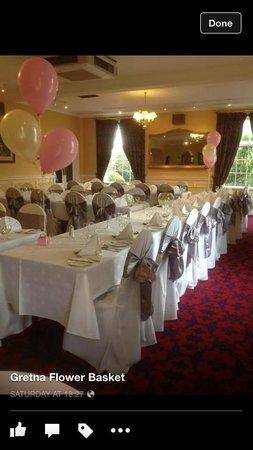 The Gretna Chase Hotel: Wedding reception