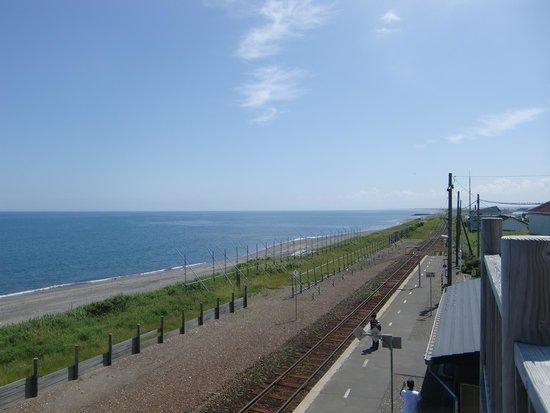 Koshimizu Primeval Garden: 駅の展望デッキからの風景