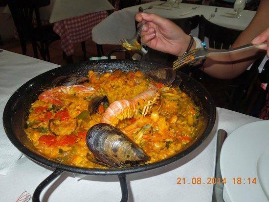 Restaurante La Palmera : паэлья