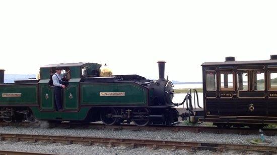 Ffestiniog & Welsh Highland Railways: One of the old steam engines