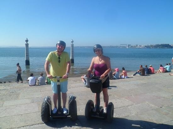 Lisbon by Segway : Overlooking the harbour