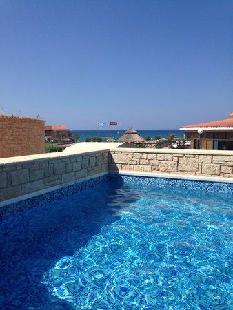 Atlantica Sensatori Resort Crete: View from patio area of Room 1003 (swim up room)