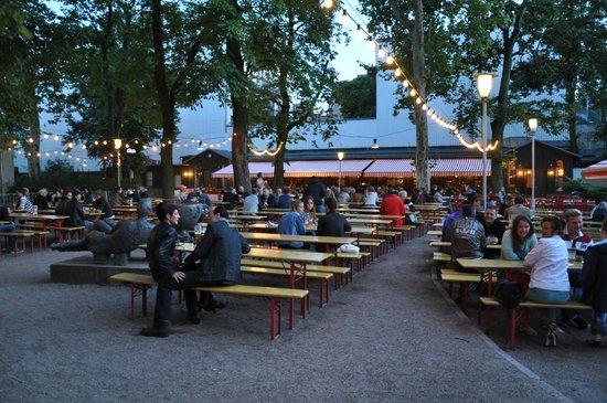 Prater Garten : Biergarten Prater, Ausgust 2014.