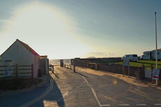 Brean Down: Car entrance to Brean Sands