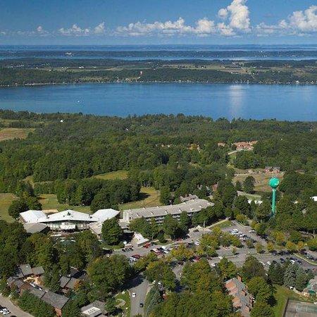 Bellaire, MI: Summit Village Aerial Shot Thumbnail