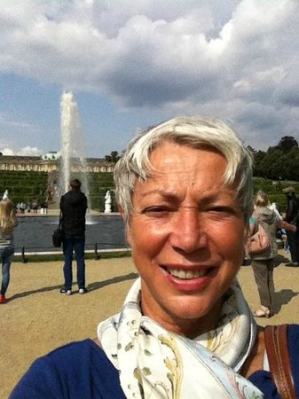 Original Berlin Walks: My smiling self at Sans Soucci Palace