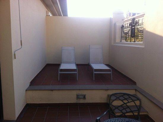 The Westin Valencia: Terrasse de la chambre.