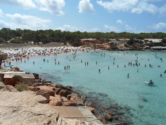 Cala Saona: Spiaggia al pomeriggio
