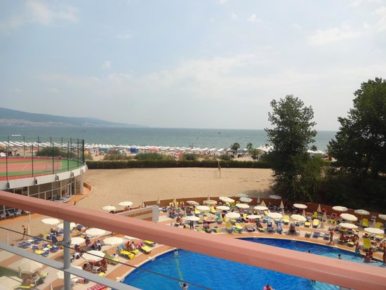 Hotel Riu Helios : View of the beach from the hotel